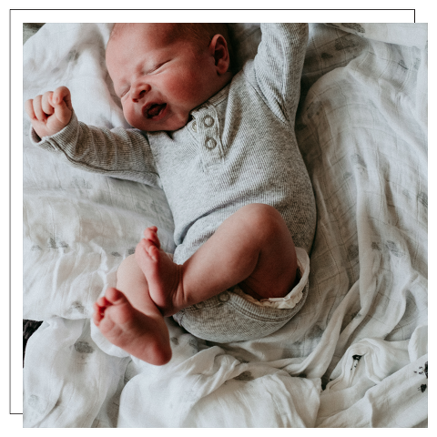 newborn stretching
